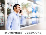 young indian office worker... | Shutterstock . vector #796397743