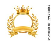 gold crown laurel wreath winner ... | Shutterstock .eps vector #796398868