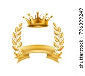 gold crown laurel wreath winner ... | Shutterstock .eps vector #796399249