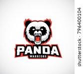 panda warriors abstract vector... | Shutterstock .eps vector #796400104