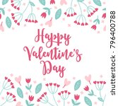 valentine greeting card with...   Shutterstock .eps vector #796400788