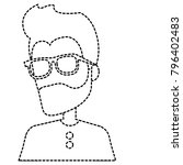 young man avatar character   Shutterstock .eps vector #796402483