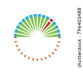 speedometer logo circle... | Shutterstock .eps vector #796403488