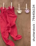 baby romper with copy space | Shutterstock . vector #796406134