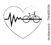 heart cardio with bicycle