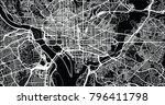 urban vector city map of... | Shutterstock .eps vector #796411798