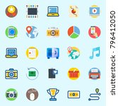 icons set about digital... | Shutterstock .eps vector #796412050