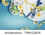 Easter Table Setting With...