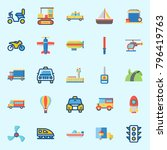 icons set about transportation. ... | Shutterstock .eps vector #796419763