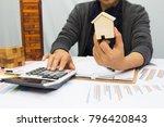 a businesswoman planing... | Shutterstock . vector #796420843