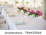 elegant flower decoration on... | Shutterstock . vector #796425064