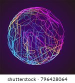 moving colorful lines of... | Shutterstock .eps vector #796428064