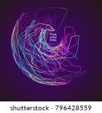 moving colorful lines of... | Shutterstock .eps vector #796428559