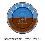 attitude navigation aircraft... | Shutterstock .eps vector #796429408