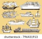 ship vector boat vessel...   Shutterstock .eps vector #796431913