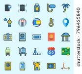 icons set about travel. with... | Shutterstock .eps vector #796435840