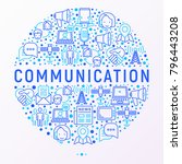 communication concept in circle ... | Shutterstock .eps vector #796443208
