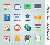icon set about marketing. with...   Shutterstock .eps vector #796450534
