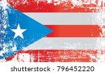 flag of puerto rico ... | Shutterstock . vector #796452220