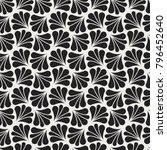 vector floral art nouveau... | Shutterstock .eps vector #796452640