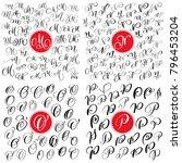 set of hand drawn vector...   Shutterstock .eps vector #796453204