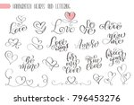 big set hand written lettering... | Shutterstock .eps vector #796453276