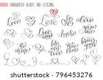 big set hand written lettering... | Shutterstock .eps vector #796453276