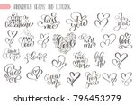 big set hand written lettering... | Shutterstock .eps vector #796453279