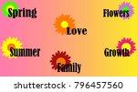 the words  spring  summer ... | Shutterstock .eps vector #796457560