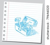 drawing of a toolbox | Shutterstock .eps vector #79646020