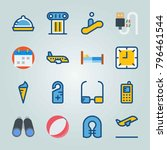icon set about travel. with... | Shutterstock .eps vector #796461544