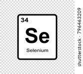 selenium chemical element. sign ... | Shutterstock .eps vector #796463209