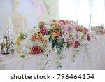 elegant wedding reception table ...   Shutterstock . vector #796464154