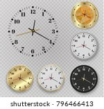 beautiful gold wall clock with... | Shutterstock .eps vector #796466413