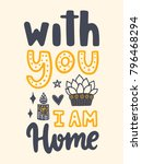 vector poster with phrase and... | Shutterstock .eps vector #796468294