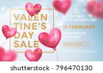 valentines day sale web banner... | Shutterstock .eps vector #796470130