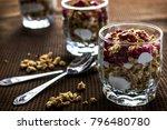 muslie e yogurt 01 07 2018 | Shutterstock . vector #796480780
