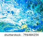 abstract blue background. water ... | Shutterstock . vector #796484254
