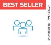 community member concept.... | Shutterstock .eps vector #796485124