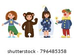 children dressed in carnival... | Shutterstock .eps vector #796485358