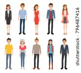 people in different character.... | Shutterstock .eps vector #796487416