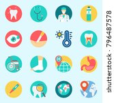 icons set about medical. with... | Shutterstock .eps vector #796487578