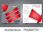 square flyer template. simple... | Shutterstock .eps vector #796489774