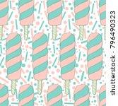ice cream vector seamless... | Shutterstock .eps vector #796490323