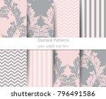acanthus leaf pattern set...   Shutterstock .eps vector #796491586