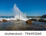 Wave Crashing Against Rock...