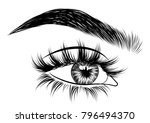 hand drawn woman's sexy exotic  ... | Shutterstock .eps vector #796494370