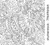 tracery seamless pattern....   Shutterstock .eps vector #796496464