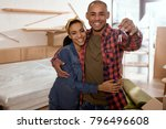 happy african american couple... | Shutterstock . vector #796496608