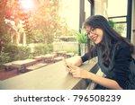 beautiful asian younger woman... | Shutterstock . vector #796508239